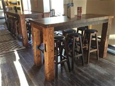 wooden floor kitchen chunky bar top made with reclaimed barn floor boards 1161
