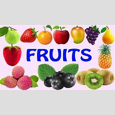 Learn Fruits Names For Children  Kids Learning Fruits  Fruits Names For Preschool Toddlers