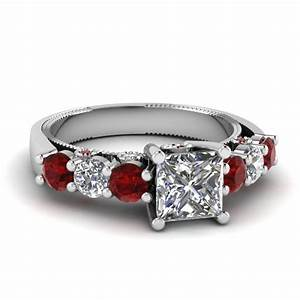 Shop for classy bezel set engagement rings fascinating for Wedding rings with rubies and diamonds