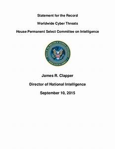 Worldwide Cyber Threats report to House Permanent Select ...