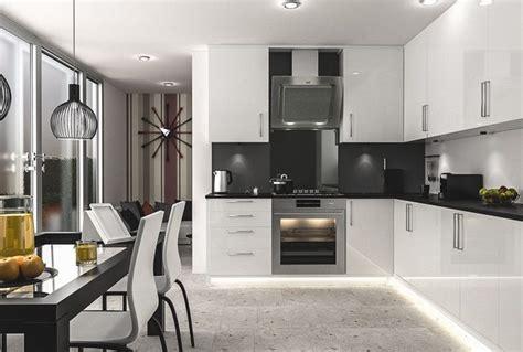kitchen designs with black appliances черно белые кухни дизайн фото 8022