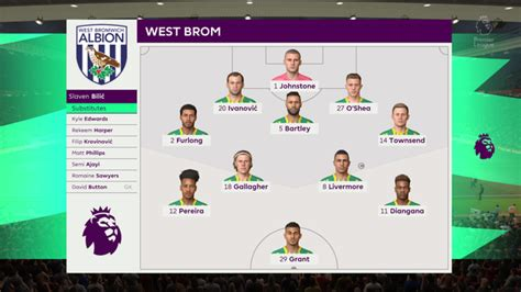 We simulated Manchester United vs West Brom to get a score ...