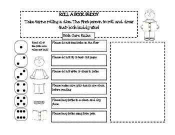 printable library manners book care worksheets by the hungarian librarian