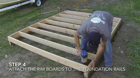 how to build a floor for a house how to build a shed part 2 floor framing youtube