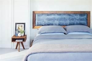 Cadre Lit Bois : t te de lit et d co murale chambre en 55 id es originales ~ Teatrodelosmanantiales.com Idées de Décoration