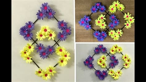 Decoration By Flowers - paper flower wall hanging diy wall decoration ideas
