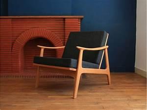 Fauteuil Vintage Scandinave : fauteuil scandinave vintage teck maison simone ~ Dode.kayakingforconservation.com Idées de Décoration