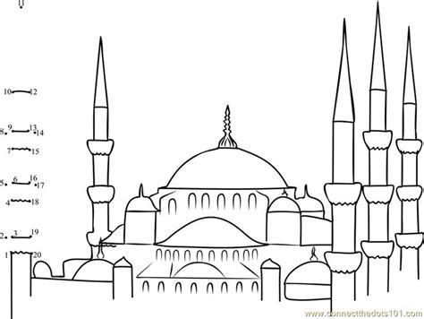Coloring Mosque by Blue Mosque Coloring Page Coloring Pages