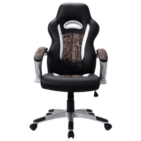 modern leather desk chair modern camo office chair pu leather high back executive
