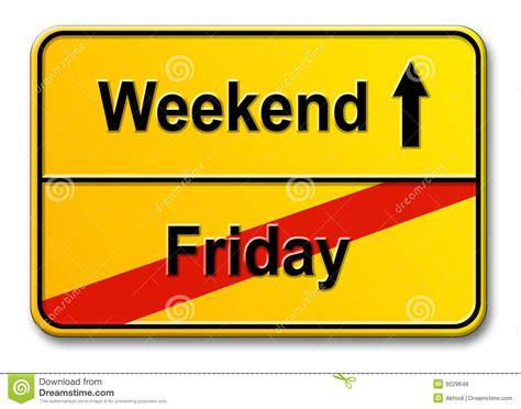 week end de vendredi photos libres de droits image 9029648