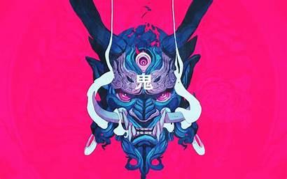 Oni Japanese Demon Mask Samurai Wallpapers Backgrounds