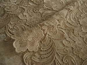 Chic champagne Lace Fabric Crocheted lace fabric Bridal by