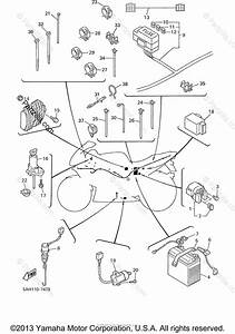 Yamaha Motorcycle 2000 Oem Parts Diagram For Electrical