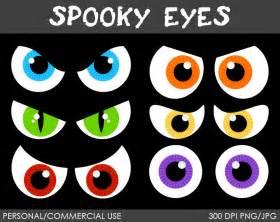Scary Spooky Halloween Eyes Clip Art
