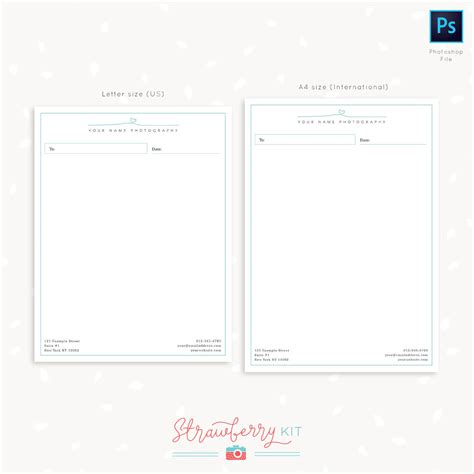 photography letter head template  photoshop