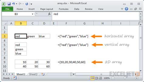 Excel Array | Exceljet