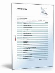 Werbungskosten Berechnen : rechentabelle werbungskosten umzugskosten formular zum download ~ Themetempest.com Abrechnung