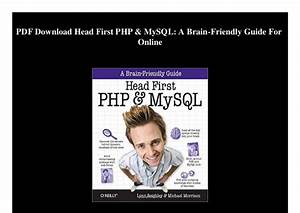 Head First Php  U0026 Mysql A Brain Friendly Guide Pdf