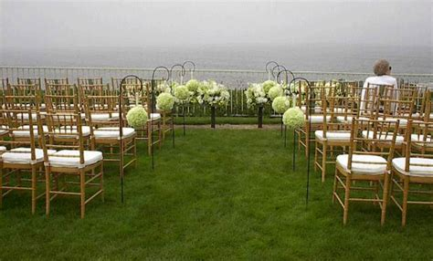 Wedding Pomander Flower Ball Wedding aisle outdoor