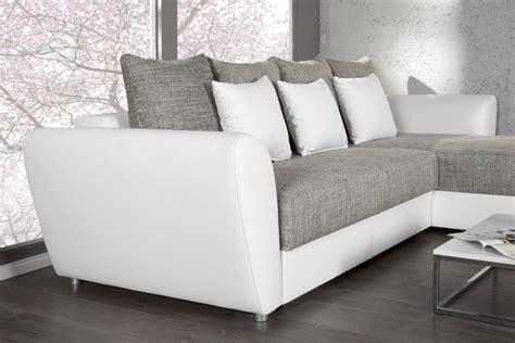 canap d angle gris et blanc photos canapé d 39 angle convertible gris et blanc