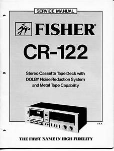 Vintage Fisher Service Manual Stereo Cassette Tape Deck W