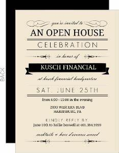 Business Open House Invitations & Business Open House