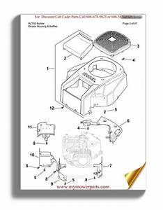 Cub Cadet Parts Manual For Model Rzt50 Kohler