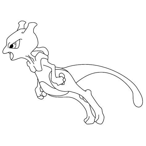 Kleurplaat Mewtwo by Leuk Voor Mewtwo