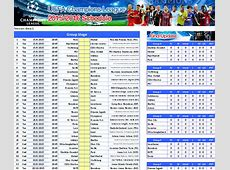 Free Download UEFA Champions League 20152016 Schedule