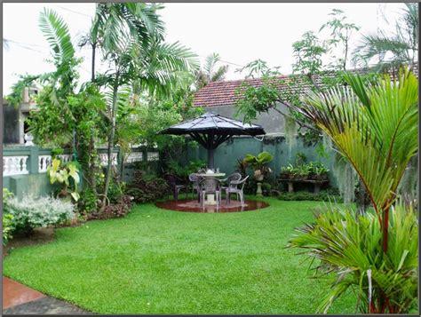 rumah minimalis  taman belakang gambar om