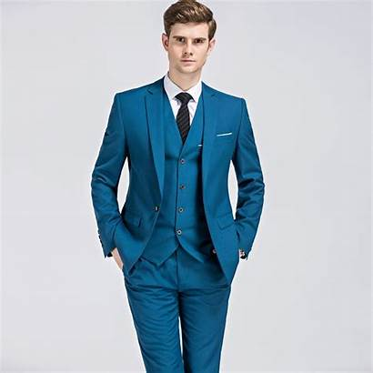 Suit Suits Piece Mens Classic Slim Business