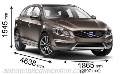 volvo  cross country  dimensions boot space