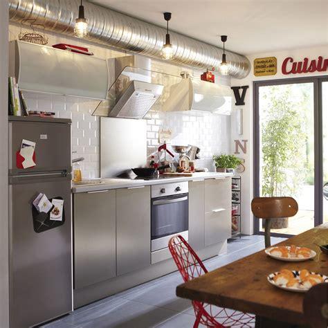 meuble de cuisine décor aluminium delinia stil leroy merlin