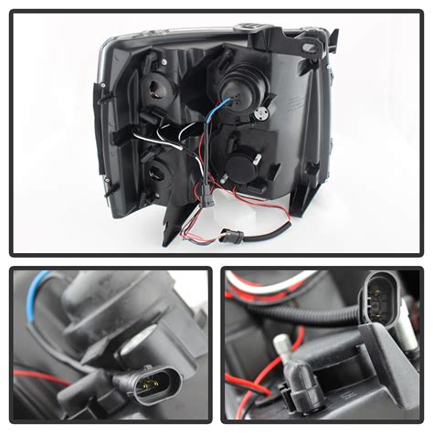 2013 Chevy Light Wiring Color by Blk 2007 2013 Chevy Silverado 1500 2500 3500 Led Halo