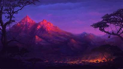 4k Fantasy Forest Night Digital Colorful Deviantart