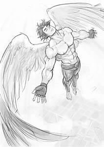 Flying Angel Drawing | www.pixshark.com - Images Galleries ...