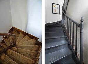 paint a wooden staircase with the painting renovation v33 With good peindre un escalier en bois 2 renovations escaliers caroline peinture