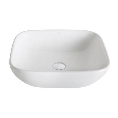 home depot kraus sink kraus elavo vessel sink in white kcv 127 the home depot