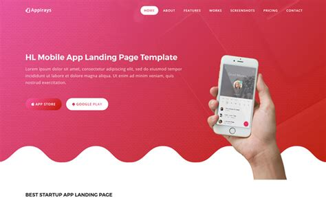 app download html5 template appirays free html5 app landing page design template