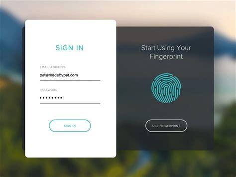 fingerprint sign   principal animation sketch freebie