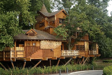 The Largest Tree House In Europe At Alnwick