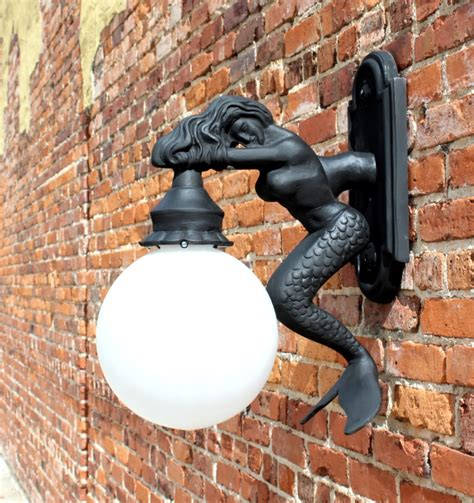 outdoor wall light sconce fixture styl mermaid nautical sea street the kings bay