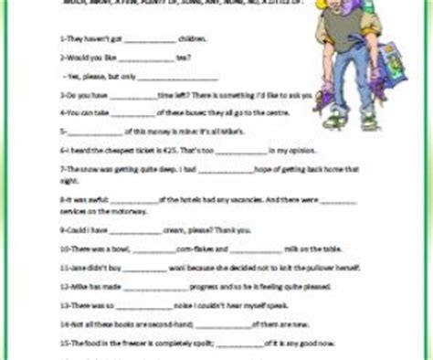 quantifiers intermediate worksheet