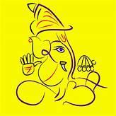 Akshar Roop Ganesh Art Mayur