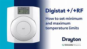 How To Set The Temperature Limits On The Drayton Digistat