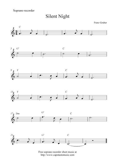 Silent Night Recorder Sheet Music