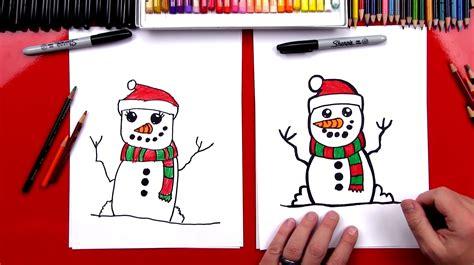 draw  snowman art  kids hub