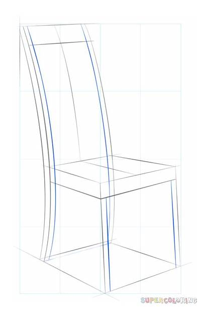 Step Chair Drawing Draw Supercoloring Bedroom Chairs