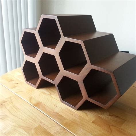 Buy a Handmade Honeycomb Wine Rack, made to order from