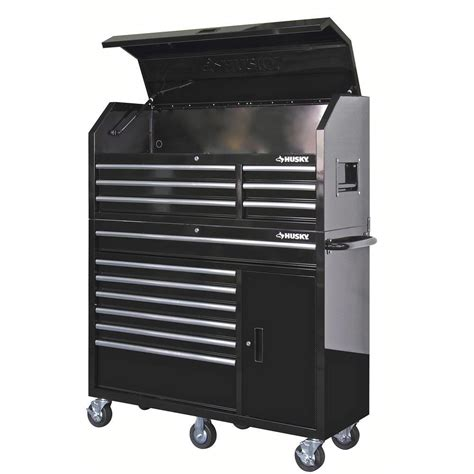 home depot husky cabinet husky 52 in 13 drawer and 1 door tool chest and cabinet
